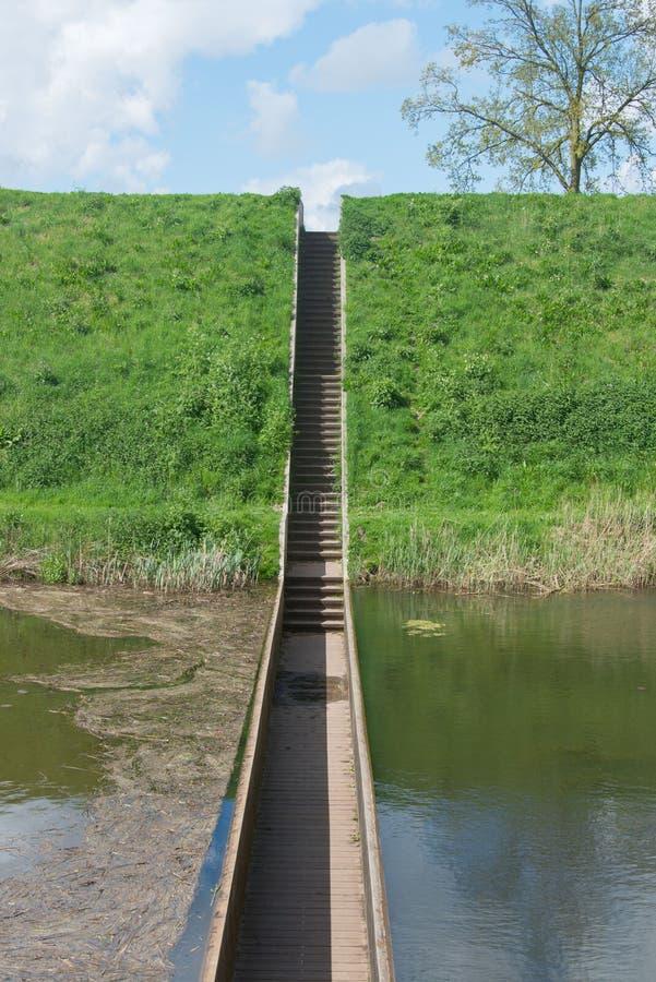 Moses Bridge chez Fortress De Roovere image libre de droits