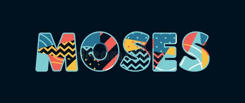 Moses Concept Word Art Illustration illustration libre de droits