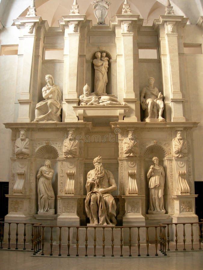 Moses de Michelangelo foto de stock royalty free