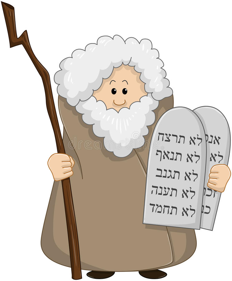 Moses Holding The Ten Commandments illustration libre de droits