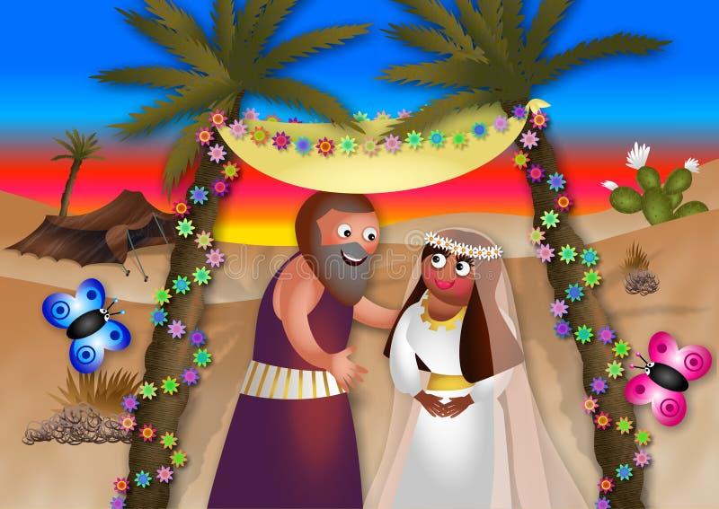 Moses Marries stock illustratie