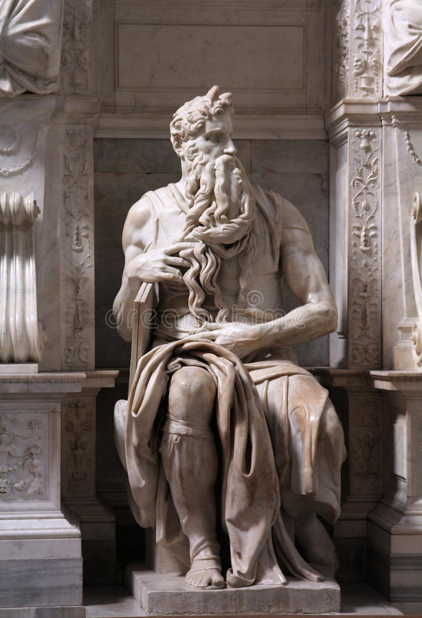 Download Moses by Michelangelo stock photo. Image of michelangelo - 14319038