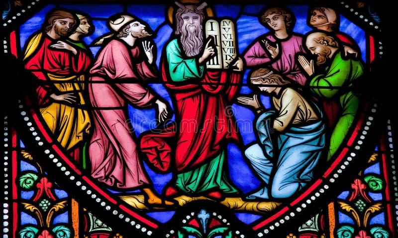 Moses och commandmenten tio royaltyfri fotografi