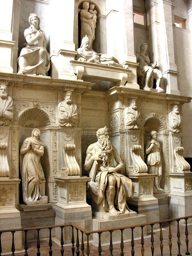 Download Moses - San Pietro In Vincoli Stock Image - Image: 5879411