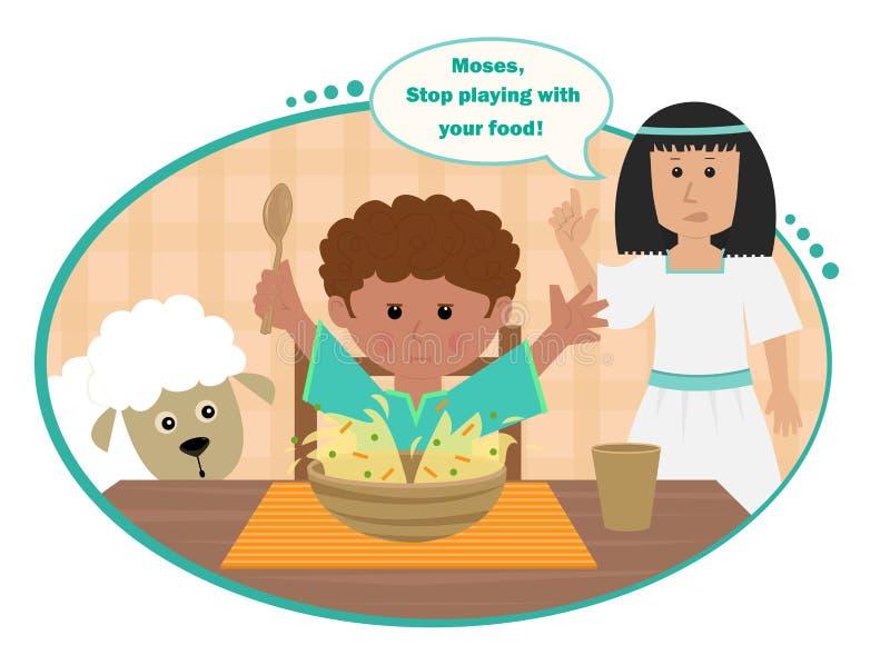 Moses Splitting The Soup illustration stock