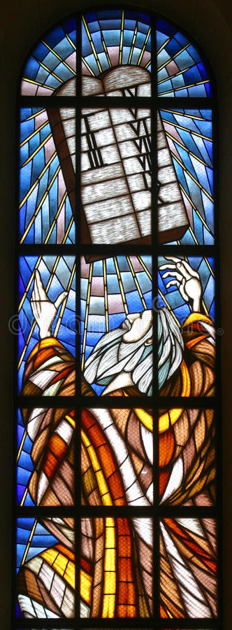 Download Moses and Ten Commandments stock photo. Image of episcopal - 17443420
