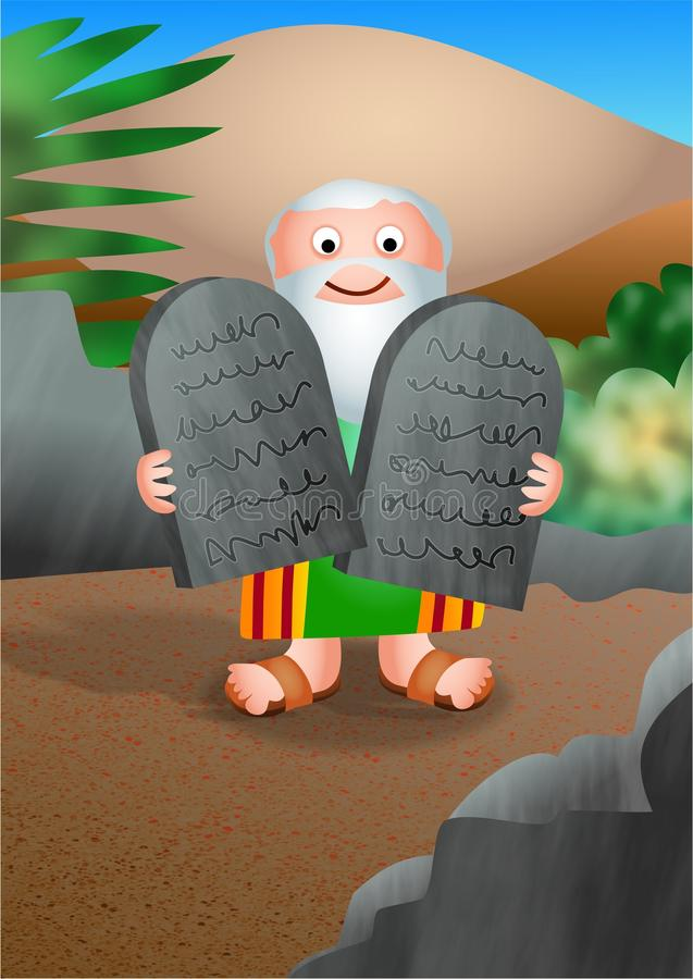 Download Moses And The Ten Commandments Stock Illustration - Illustration of faith, moses: 25677273