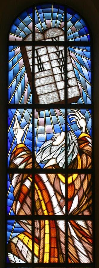 Moses y diez mandamientos foto de archivo