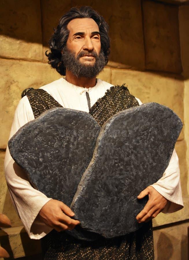 Moses y los diez mandamientos fotos de archivo libres de regalías
