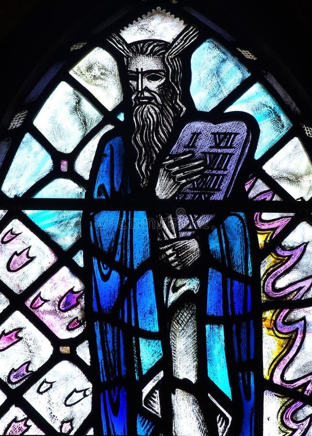 Moses y los 10 mandamientos fotografía de archivo libre de regalías