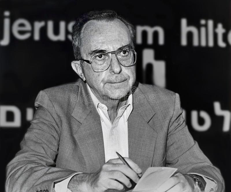 Moshe Arens arkivfoton