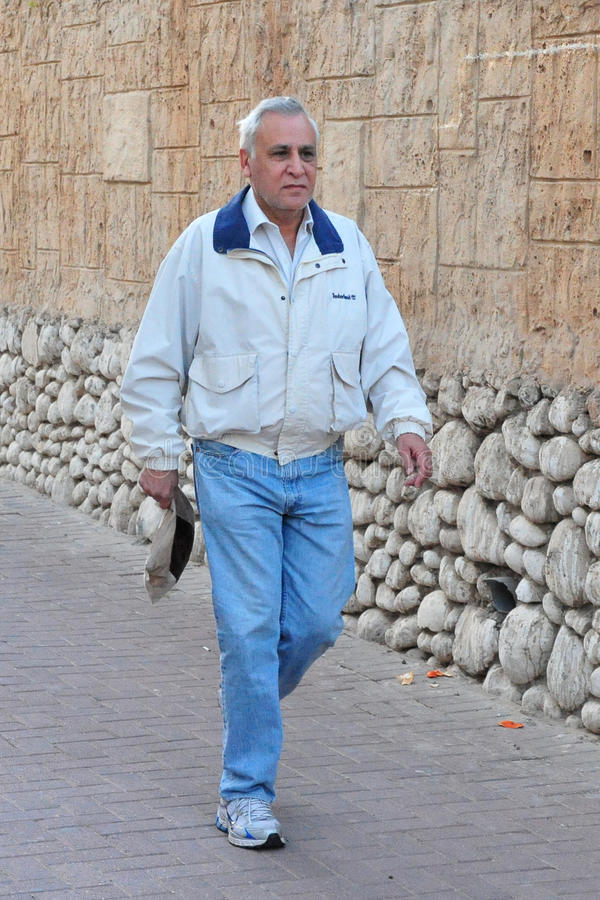 Moshe Katzav - 8th president av Israel fotografering för bildbyråer