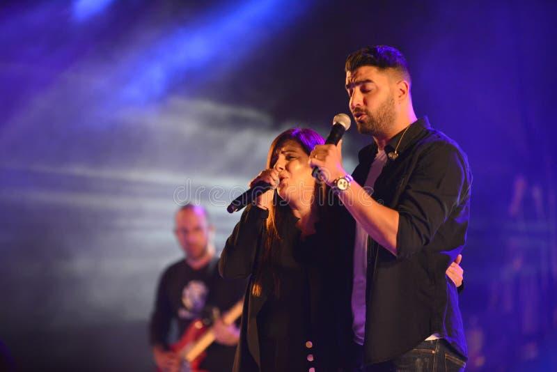 Moshe Peretz i Zehava Ben jeste?my izraelity ?Mizrahi muzycznego gatunku ?piosenkarzem zdjęcia royalty free