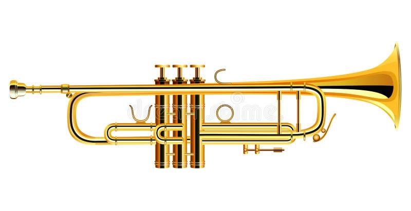 Mosiądz tubowa ikona Filharmoniczna orkiestra odizolowywająca ilustracji