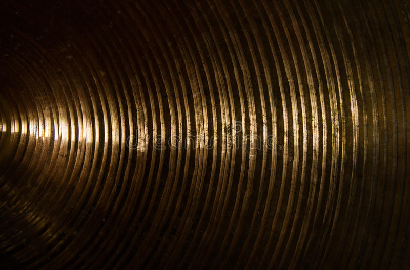 Mosiężna cymbałki tekstura zdjęcia stock
