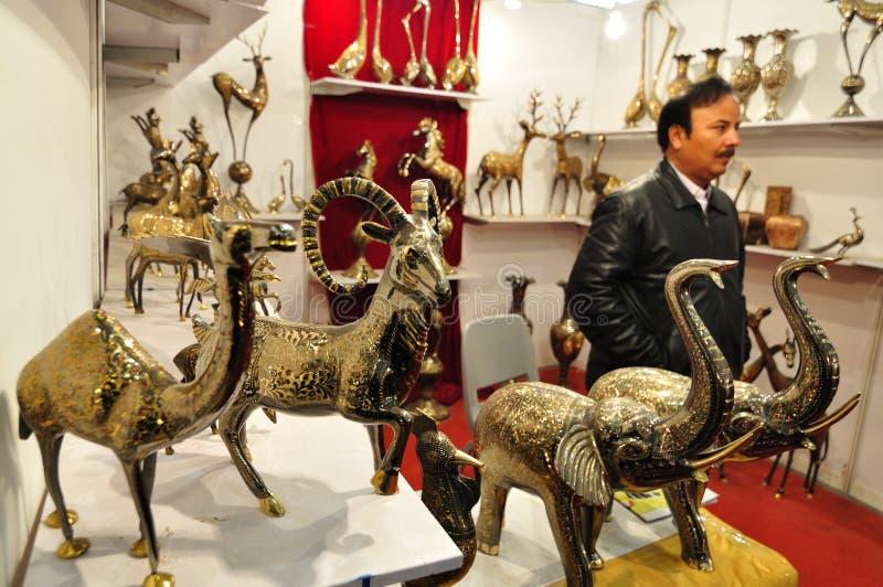 Mosiężne zwierzęce statuy od Pakistan fotografia stock