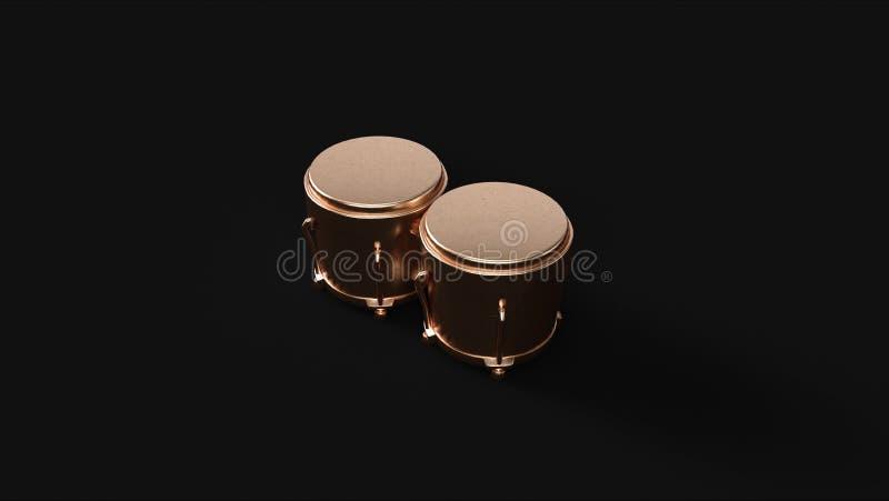 Mosiężni bongo obrazy stock