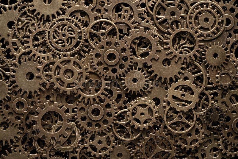 Mosiężni cog koła, steampunk tło zdjęcie royalty free
