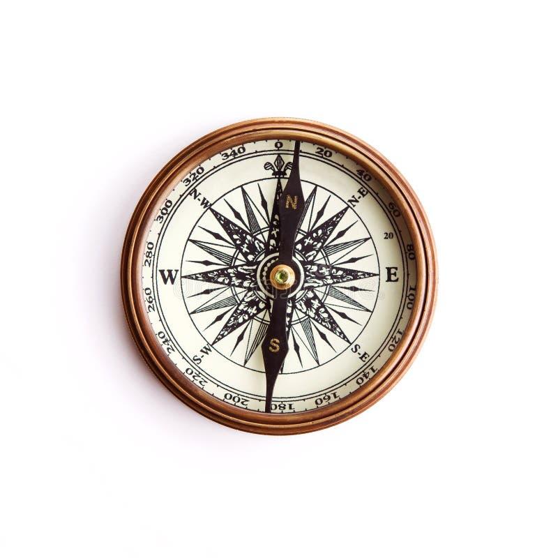 mosiężny ścinku kompasu ścieżki rocznik zdjęcia stock