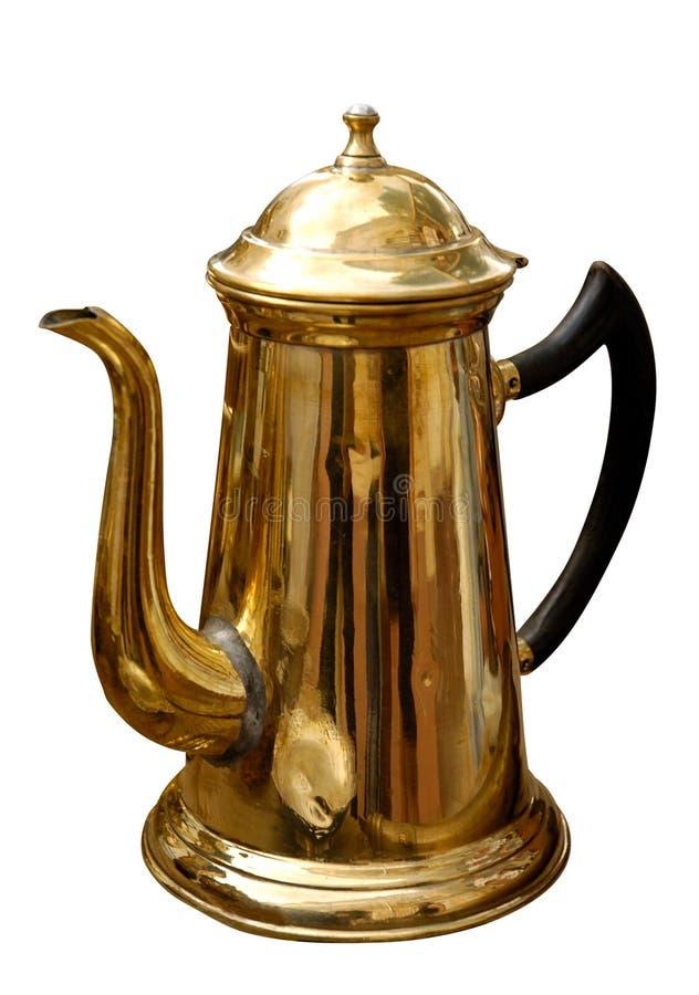 mosiężny antyczny czajnik zdjęcia royalty free