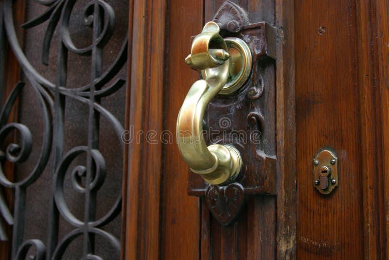 mosiężny drzwi knocker obraz stock