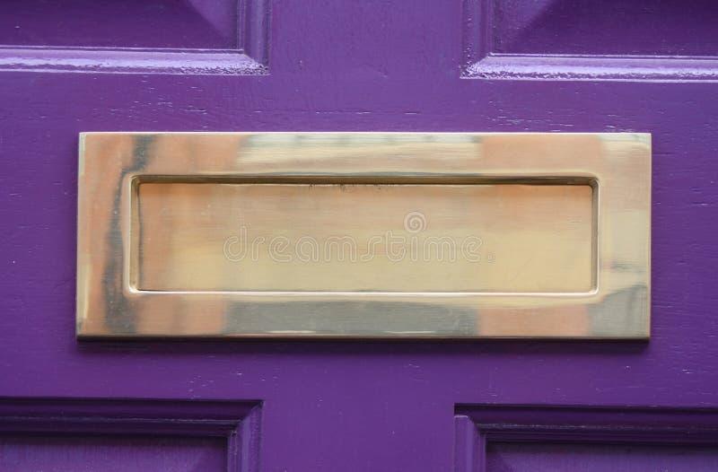 mosiężny letterbox zdjęcia stock