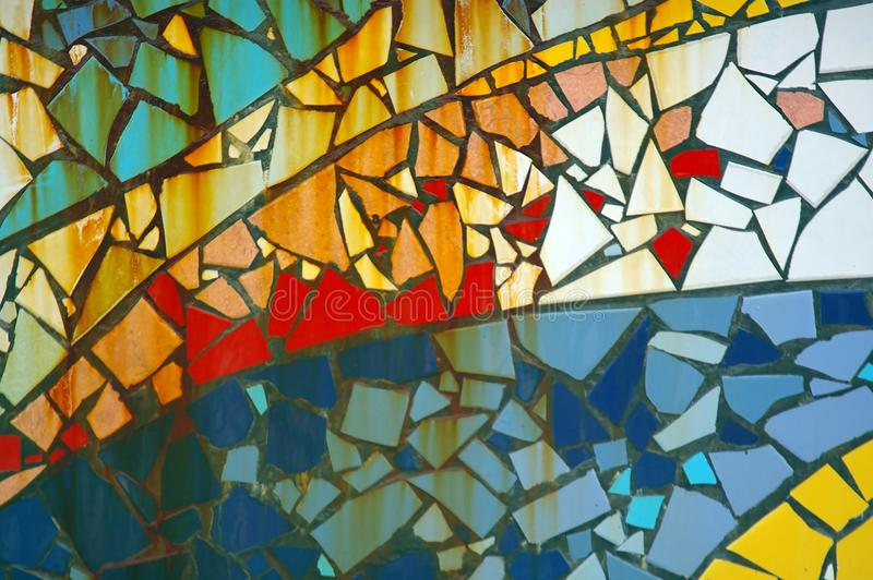 Mosiac tiles. Random patch of mosaic tiles for background texture royalty free stock photography