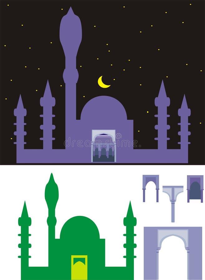 moské stock illustrationer
