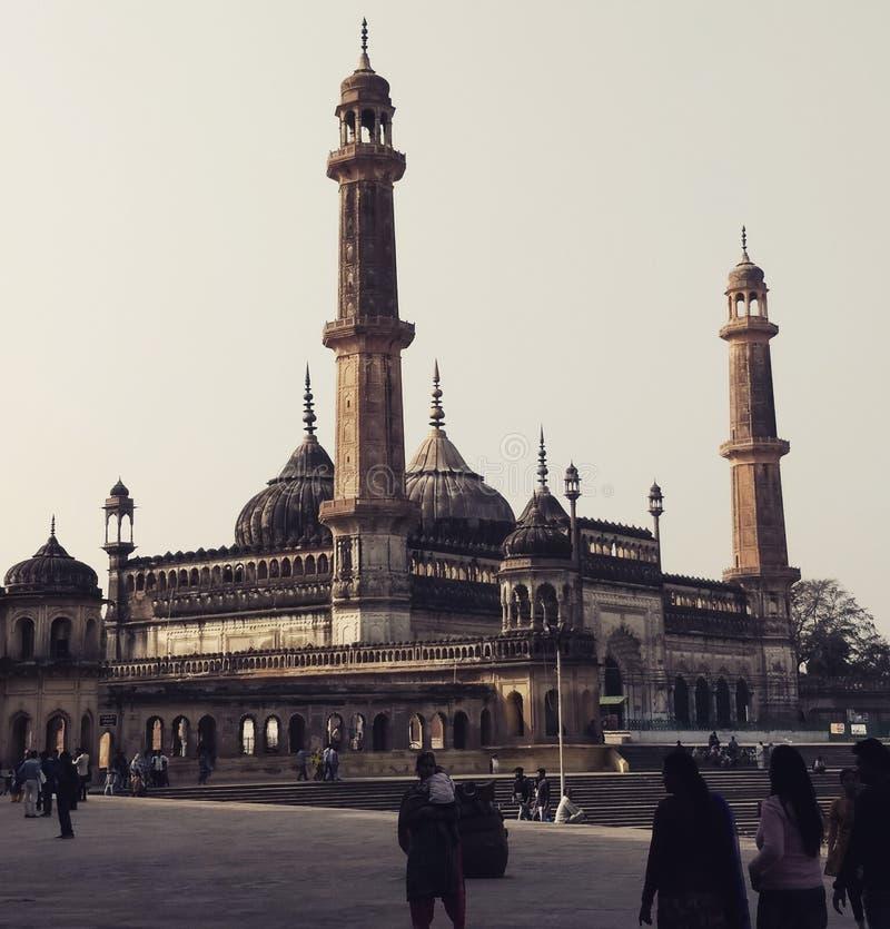 Moské av Bara Imambara, Lucknow arkivbild