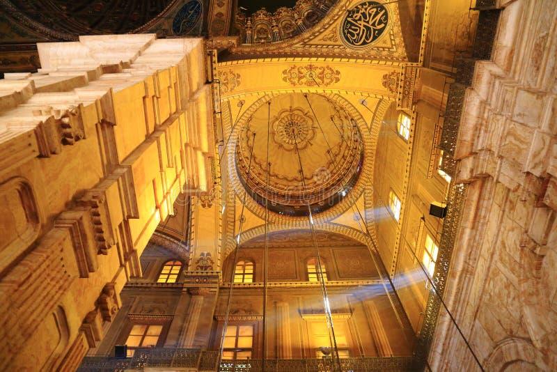 Moské av Muhammad Ali i Kairo royaltyfri fotografi