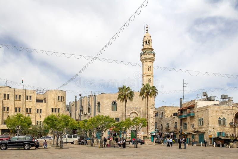 Moské av Omar i Bethlehem royaltyfri foto