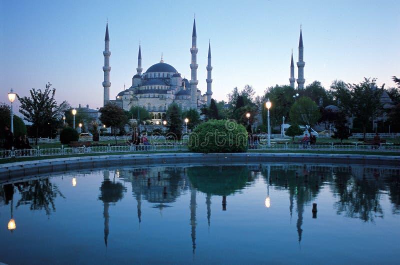 moské för 2 blue royaltyfri bild