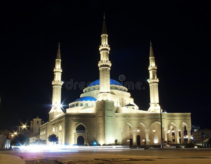 moské för alamin beirut lebanon mohammad arkivfoton
