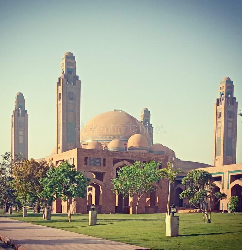 Moské för Bahria stadtusen dollar royaltyfri fotografi