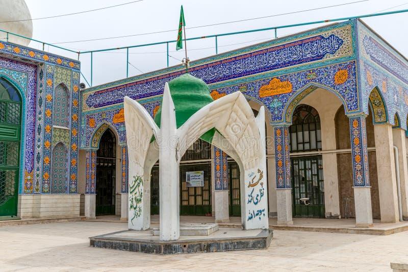 Moské i Abarghu arkivbild