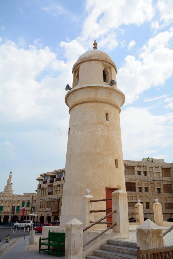 Moské i den gamla staden, Doha, Qatar fotografering för bildbyråer