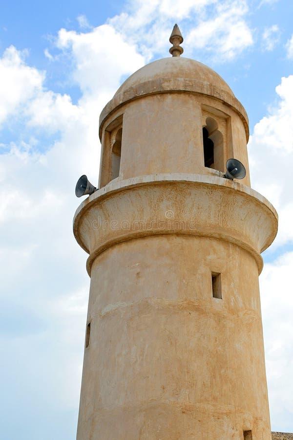 Moské i den gamla staden, Doha, Qatar arkivfoto