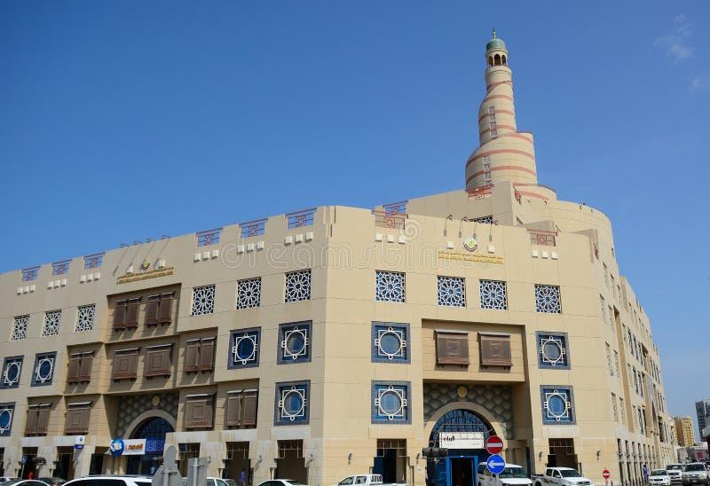 Moské i den gamla staden, Doha, Qatar royaltyfri foto