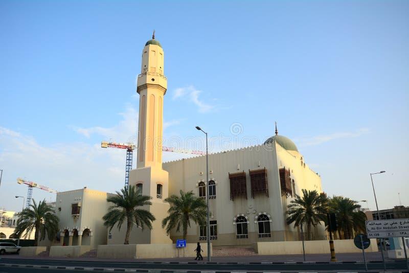 Moské i den gamla staden, Doha, Qatar royaltyfria foton