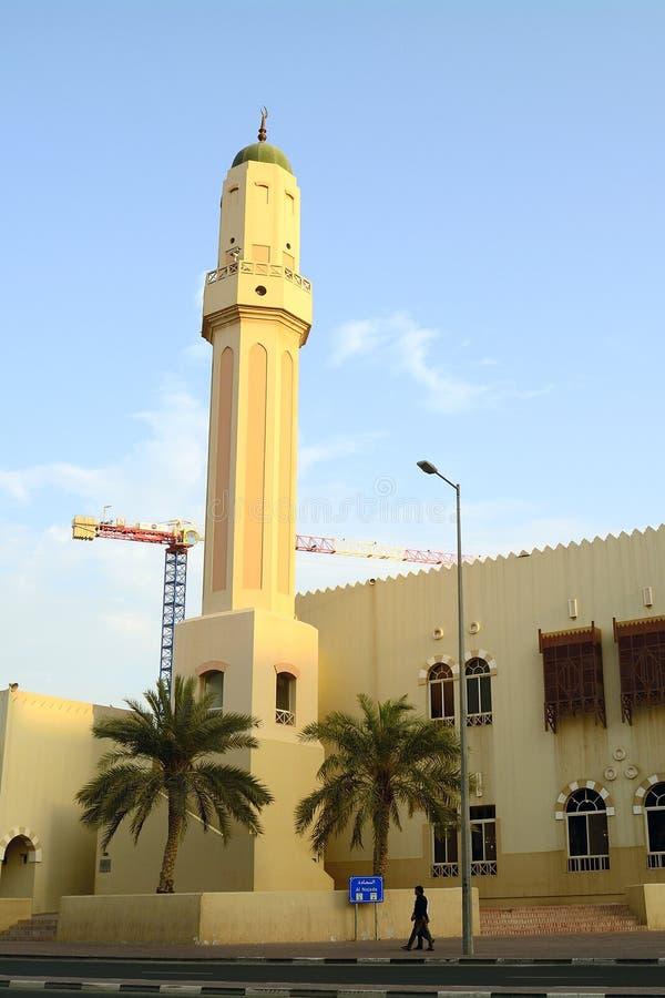 Moské i den gamla staden, Doha, Qatar royaltyfria bilder