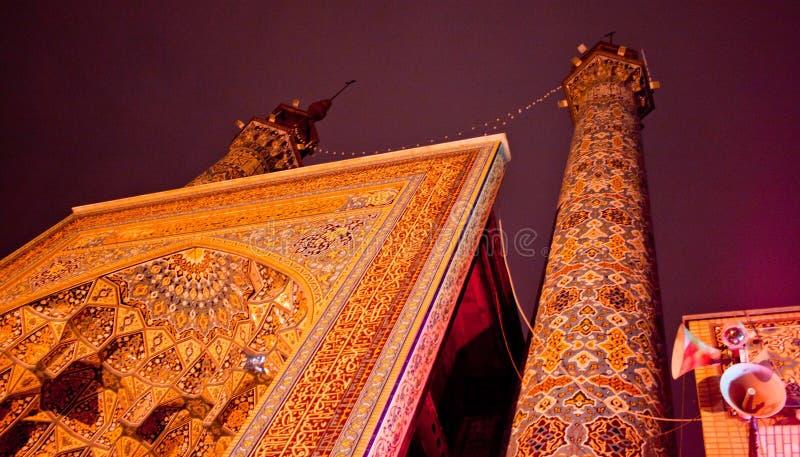 Moské i Iran, Teheran arkivbild