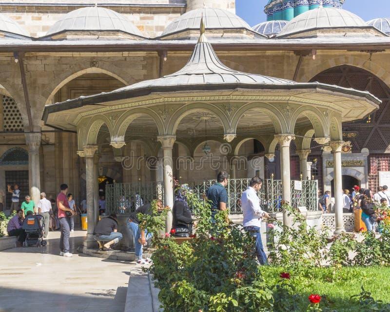 Moské i konyaen, Turkiet fotografering för bildbyråer