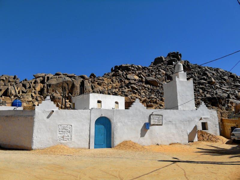 Moské i Sahara Desert arkivfoto