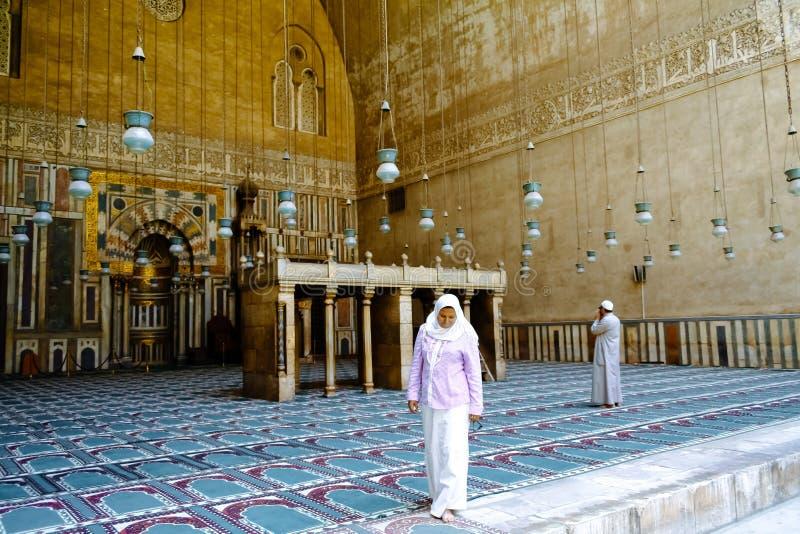 Moské-Madrassa av Sultan Hassan cairo egypt royaltyfria foton