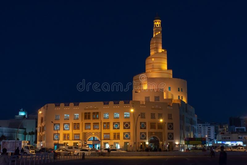 Moské nära Souq Waqif, Doha, Qatar royaltyfri foto