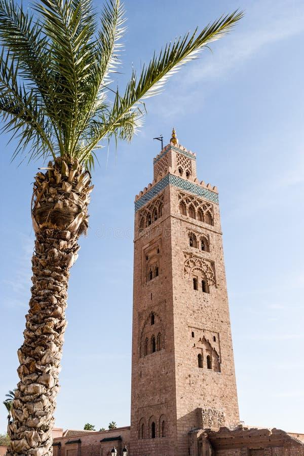 Moské på Marrakech, Marocko arkivfoton