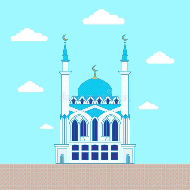 moské Plan designbyggnad, affischmall vektor illustrationer
