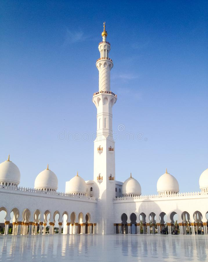 Moské Sheikh Zayed Grand Mosque Abu Dhabi UAE royaltyfri bild