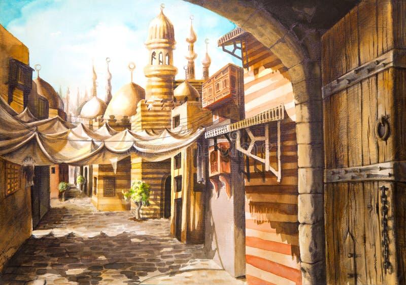 moskémålning stock illustrationer