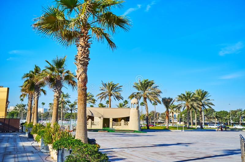 Moskén parkerar in av Doha, Qatar royaltyfri fotografi